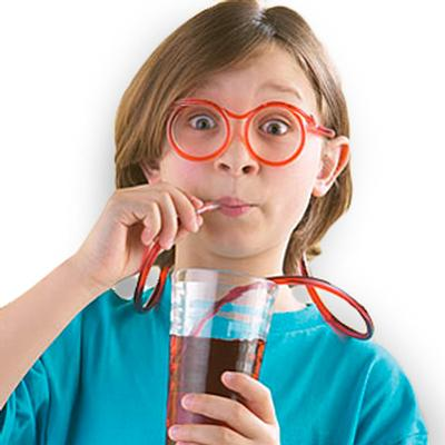 Click to get Silly Straw Eyeglasses