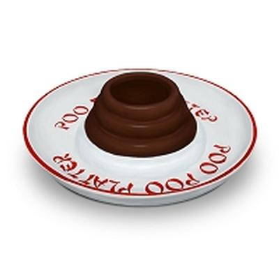Click to get Poo Platter Chip  Dip Plate