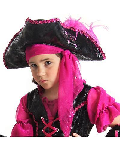 Girls deluxe caribbean pirate hat girls deluxe caribbean pirate hat