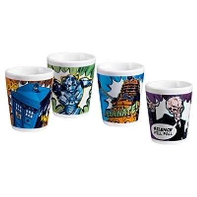 Click to get Doctor Who 4pc Ceramic Mini Glases