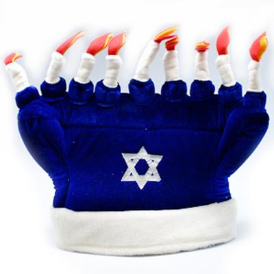 Click to get Happy Hanukkah Menorah Hat