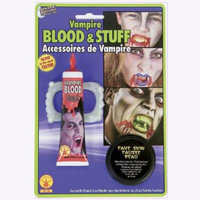 Click to get Vampire Teeth Blood and Skin Makeup Kit