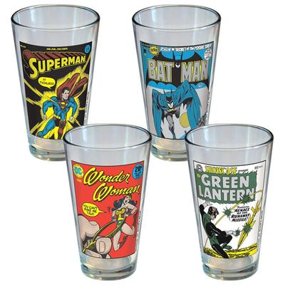 Click to get DC Comics Classic Covers Glass Set