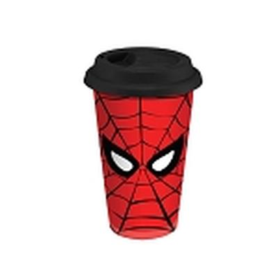 Click to get Marvel SpiderMan 12 oz Double Wall Ceramic Travel Mug