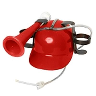 Click to get Drinking Helmet with Horn Red