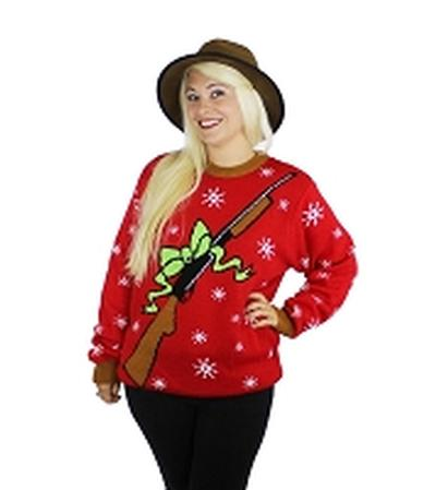 Click to get Ugly Christmas Sweater Xmas Rebellin Rifle Large